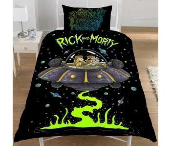 Rick & Morty Duvet cover Ufo Spaceship single 135x200 + 50x75cm