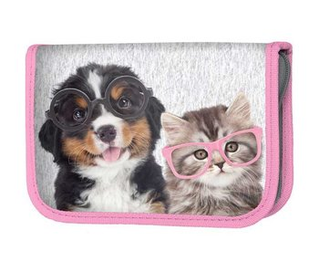 Studio Pets Filled pencilcase Cat and Dog