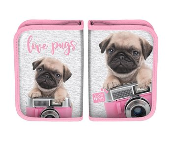 Studio Pets Filled pencilcase Love Pugs 22 pieces