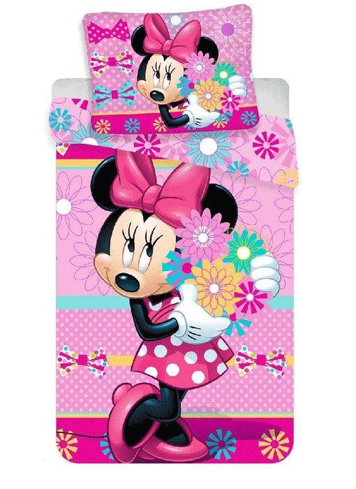 Disney Minnie Mouse Dekbedovertrek Flowers 140x200 + 70x90cm