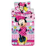 Disney Minnie Mouse Hearts - Dekbedovertrek - Eenpersoons - 140 x 200 cm - Multi