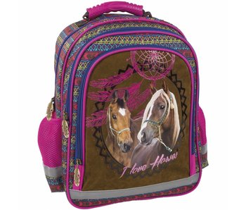 Animal Pictures Backpack 38 cm Horses Dreamcatcher