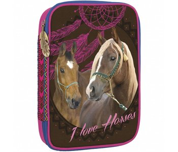 Animal Pictures Filled Pencilcase 28 pieces Horses Dreamcatcher