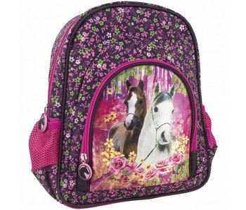 Animal Pictures Backpack 30 cm Horses Forest
