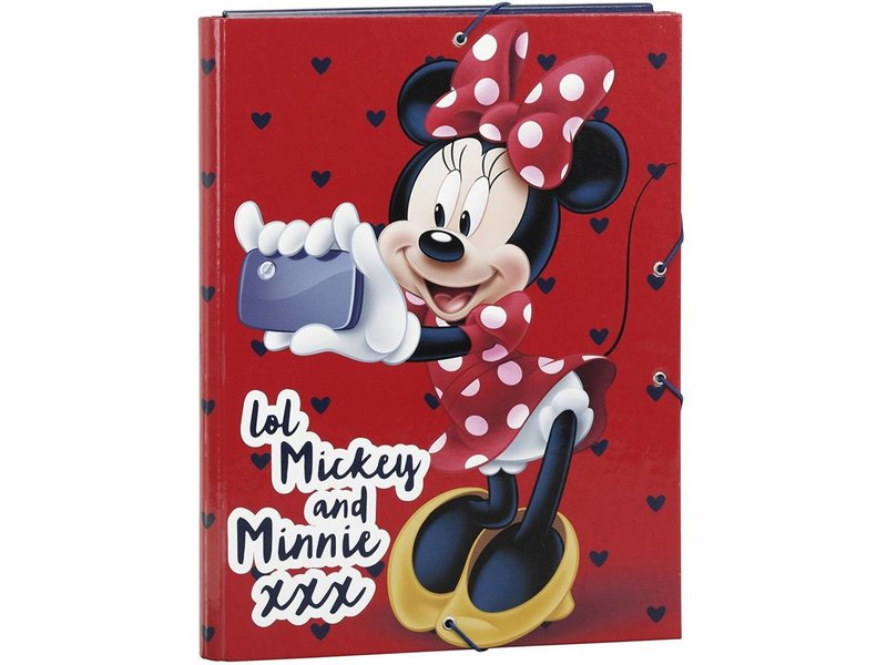 Disney Minnie Mouse - Luxe Elastomap - A4 - Rood