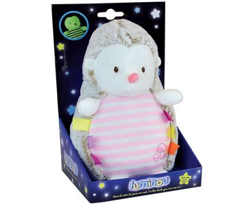 Luminou Glow in the Dark Hedgehog Pink 21 cm