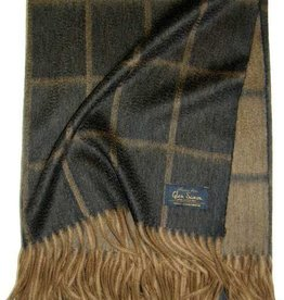 Glen Saxon Cashmereplaid 100% Cashmere gewebt Karo Garda - black