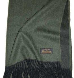 Glen Saxon Tolles Plaid 130x180 cm Lambswool mit Cashmere mit Fransen doppelseitig zweifarbig