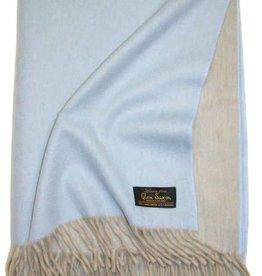 Glen Saxon Luxus Plaid 130x180 cm Lambswool-Cashmere  mit Fransen doppelseitig zweifarbig