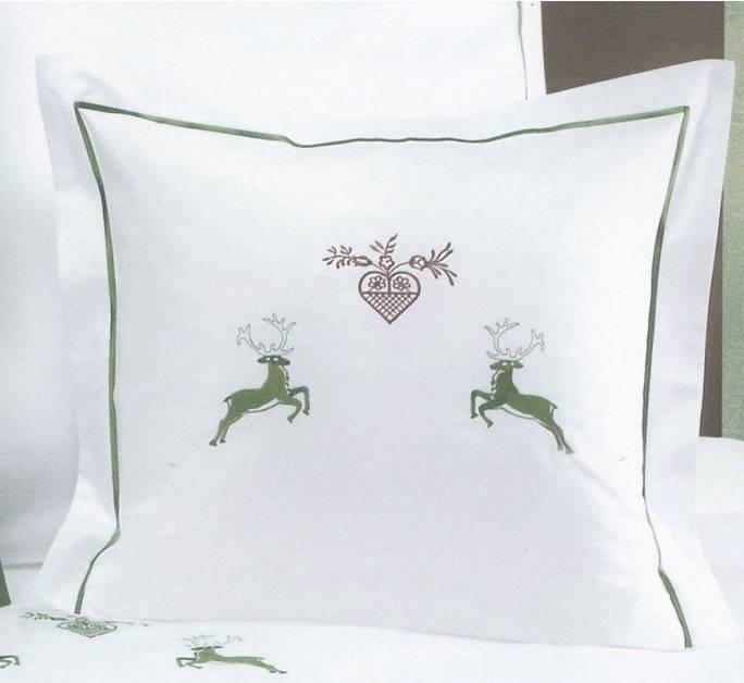 luxus bettwäsche graser maco satin uni stickerei hirsch - textile, Schlafzimmer entwurf