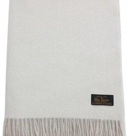 Glen Saxon Luxus Plaid 130x180 cm Glen Saxon Lambswool Cashmere mit Fransen doppelseitig zweifarbig