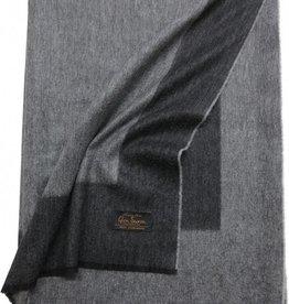 Glen Saxon Cashmereplaid flanell-grey mit Rahmen schwarz