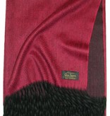 Glen Saxon Cashmereplaid 100% Cashmere rot - Bordüre schwarz