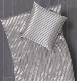 Cellini Design Seidenbettwäsche Limba Streifen platin