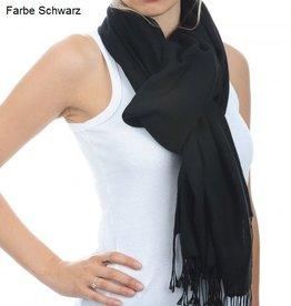 Original Pashmina Schal 70x200 cm - schwarz