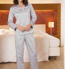 Novila NOVILA Damen Pyjama Petra 8586 grau
