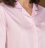 Novila Damen Nachthemd Marlene 8586 rose Paspelierung silber