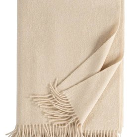 Eagle Produkts Windsor Cashmereplaid 100% Kaschmir Farbe creme