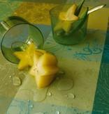 Garnier Thiebaut     GT Tischdecke abwaschbar  Mille Couleurs lime