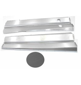 Chapas de caja Inox mat - 4 piezas