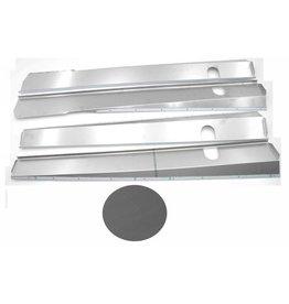 Dorpel RVS mat break / cabriolet - 4 stuks