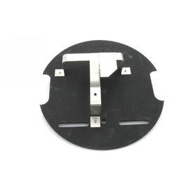 Placa + soporte bidon rueda repuesto