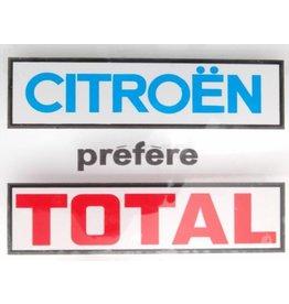 """Sticker """"citroën prefere total"""" square"""