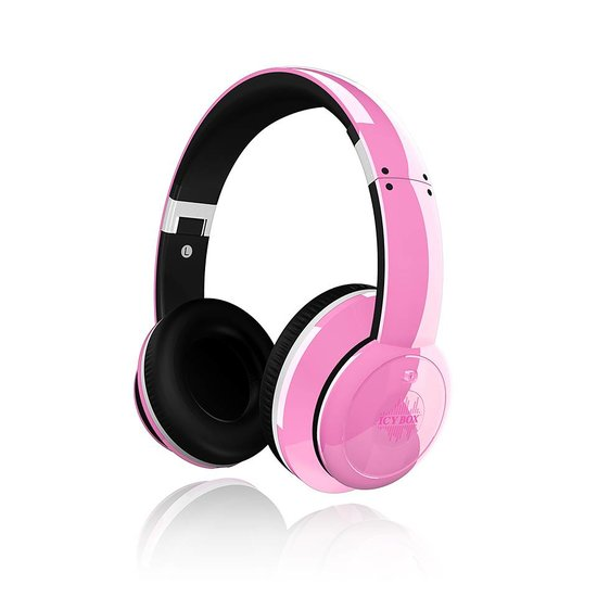 ICY BOX IB-HPh2-Pk - Stereo Headphones with active Noice Canceling Technology
