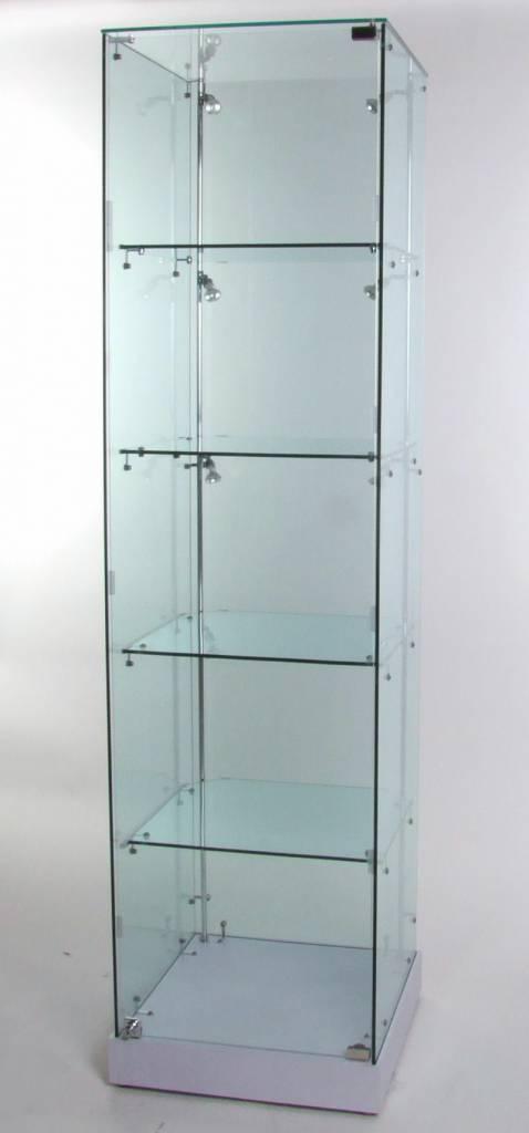 glasvitrine incl beleuchtung vg02w hersteller von hochwertigen glas alu vitrinen mit. Black Bedroom Furniture Sets. Home Design Ideas