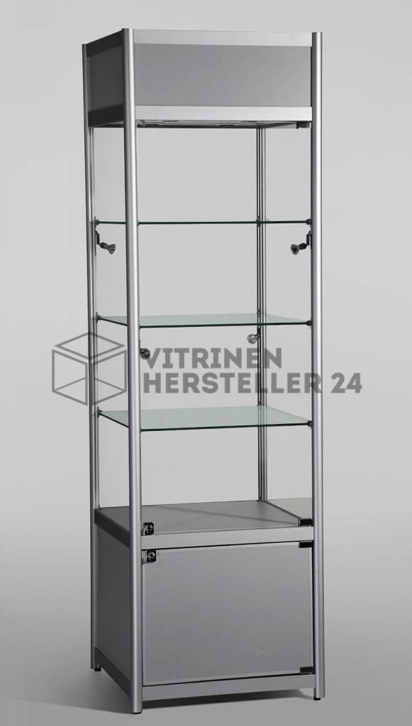 freistehende vitrine glas alu und beleuchtung vs3600 hersteller von hochwertigen glas alu. Black Bedroom Furniture Sets. Home Design Ideas