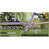 Produkten-products Kadobon € 40