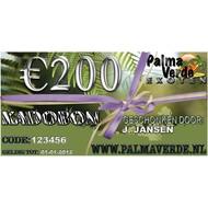 Produkten-products Gift voucher € 200