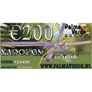Produkten-products Kadobon € 200