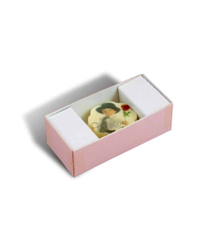 Bonbons Wit met Foto/Logo 1 stuk