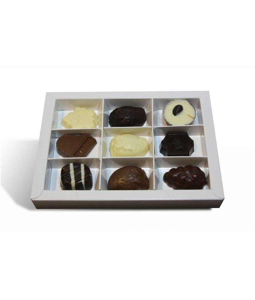 Chocolade Bonbons Assortiment groot 9 stuks