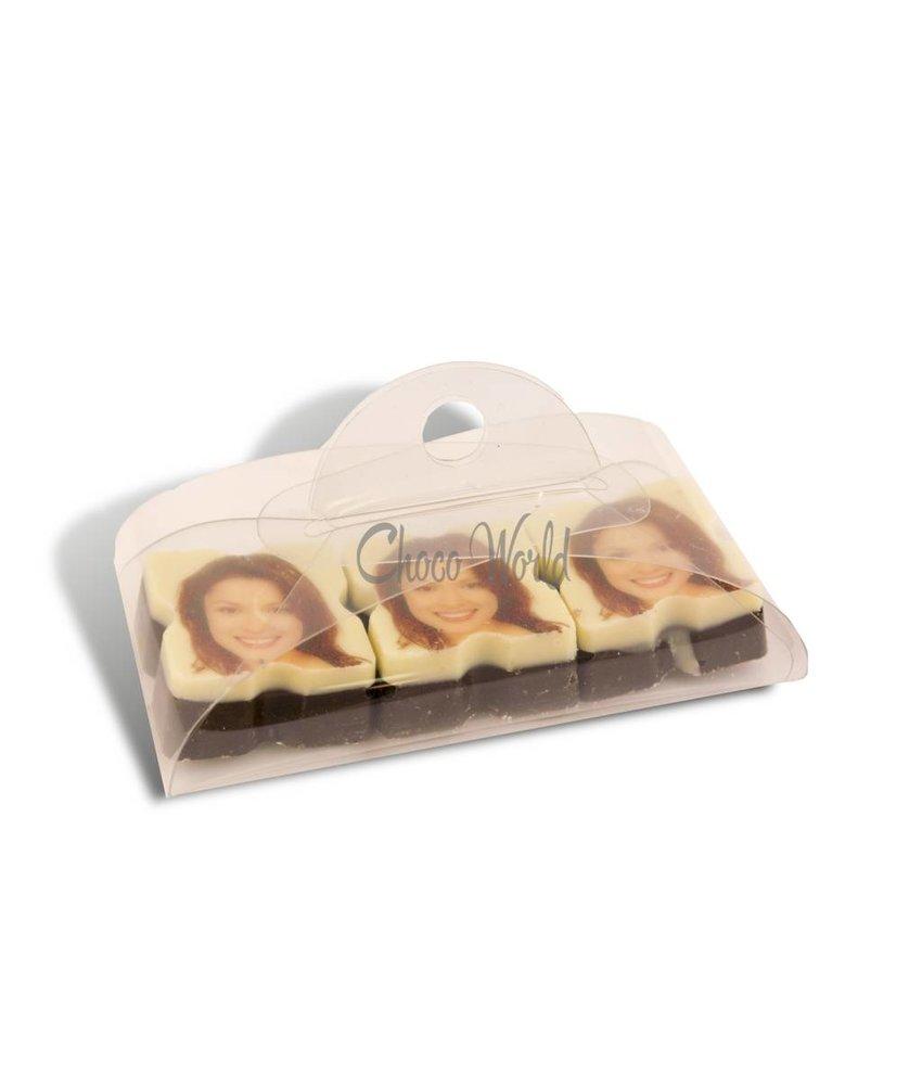 Bonbons Puur met Foto/Logo 3 stuks
