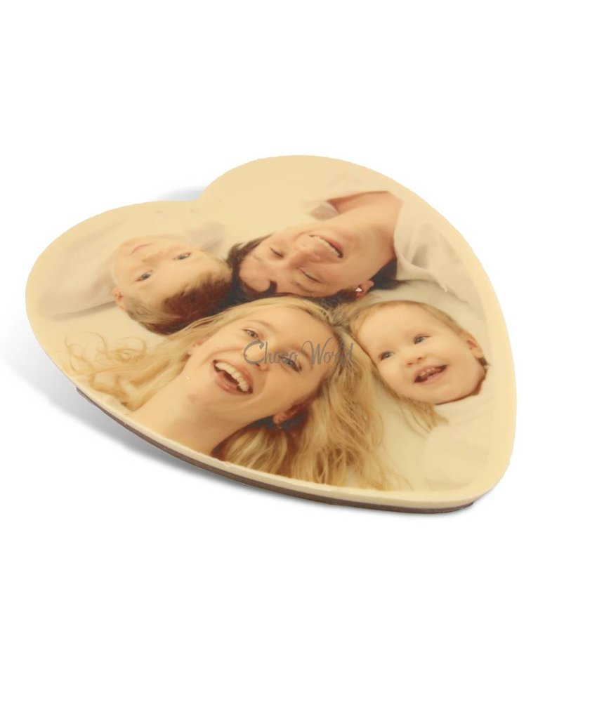 Chocolade hart kingsize met foto