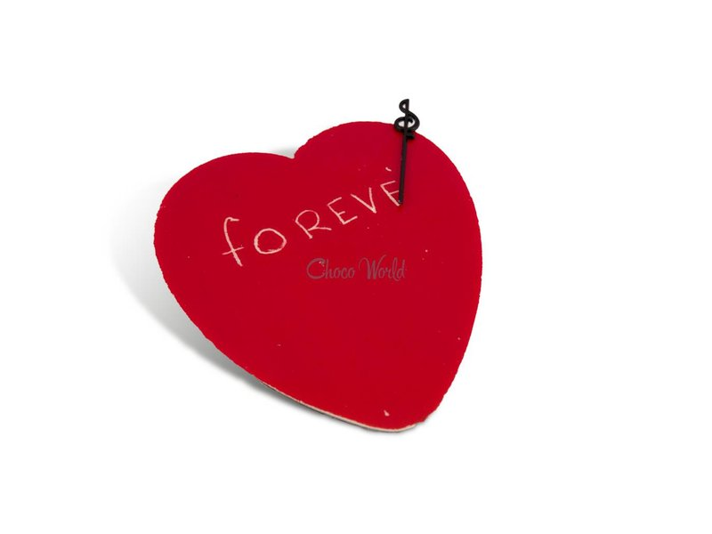 Chocolade hart rood groot