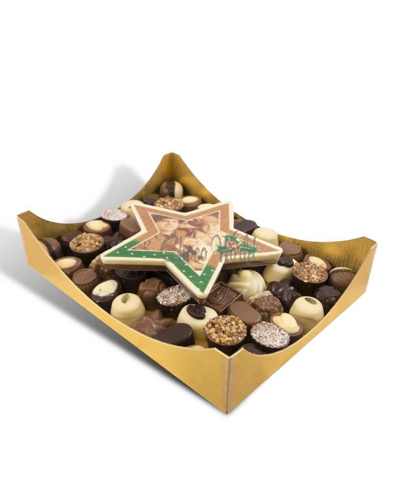 Slagroom Bonbons Assorti Groot met Chocolade Kerstster