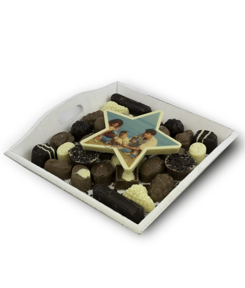 Slagroom Bonbons Assortiment Middel met Chocoladester
