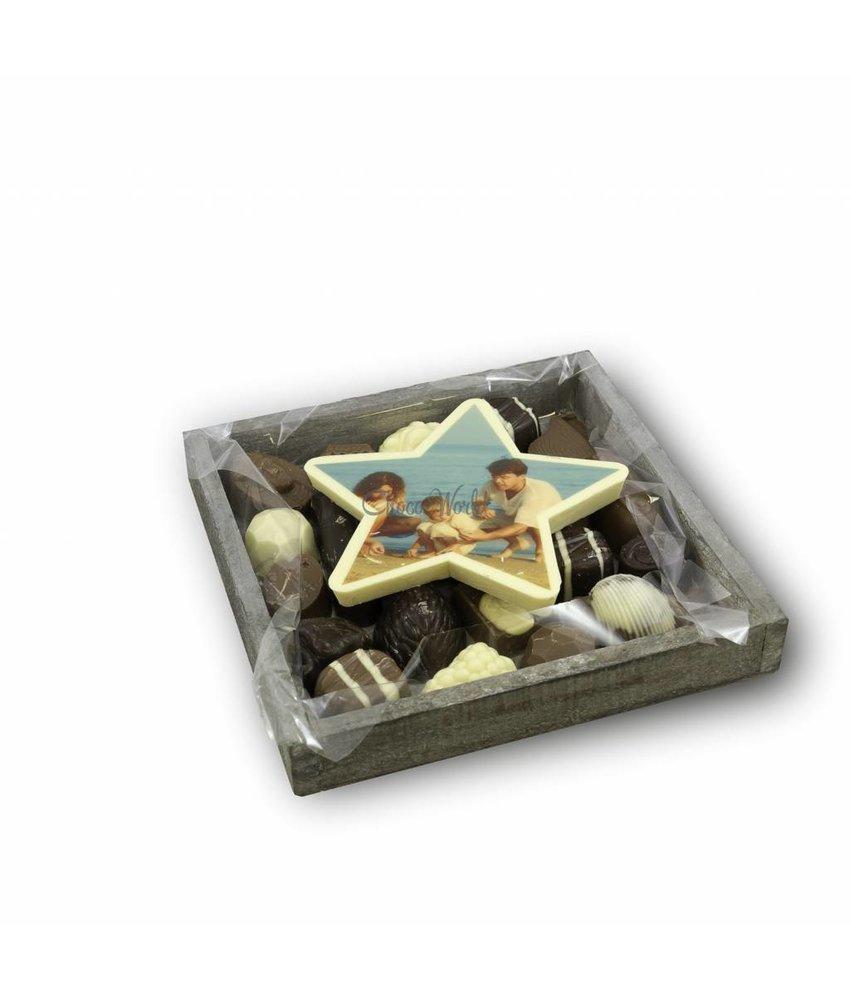 Slagroom Bonbons Assortiment Klein met Chocoladester