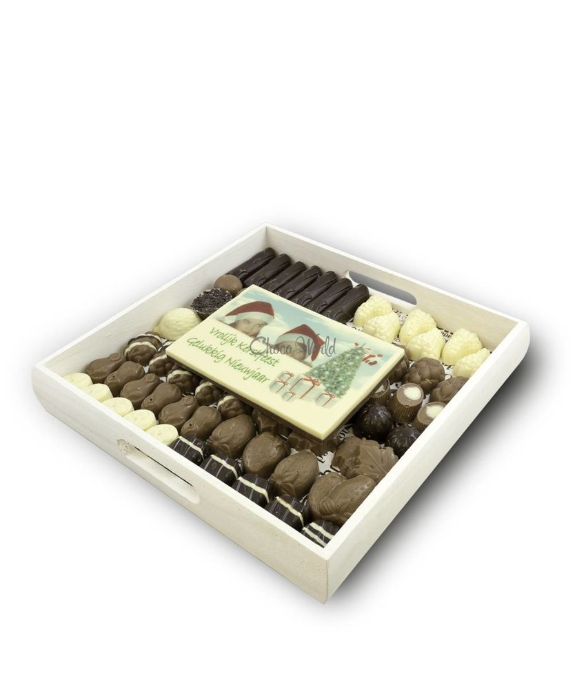 Slagroom Bonbons Assortiment Kingsize met Chocolade Kerstkaart