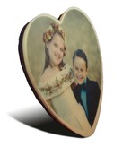 Chocolade hart klein met foto