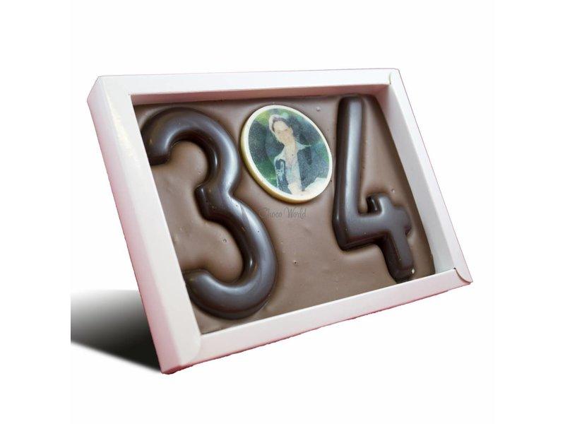 Chocolade Cijfer Dubbel met foto