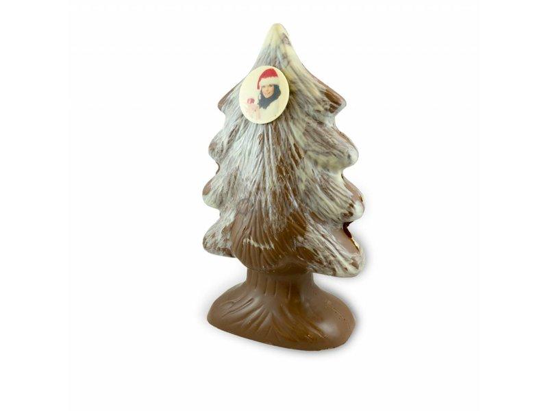 Chocolade Kerstboom met foto