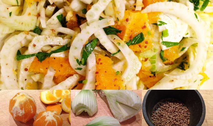 Fenchel Orangen Koriander Salat