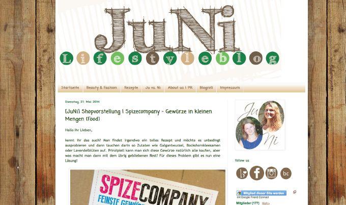 JuNi Lifestyle testet Gewürze in kleinen Mengen