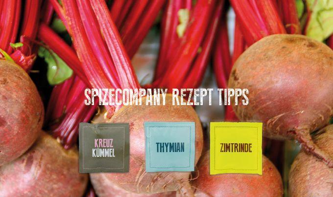 Rote-Bete-Salat mit Thymian, Kreuzkuemmel und Zimt