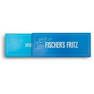 Die zweiteilige Gewürz Geschenkverpackung Fischer's Fritz der Spizecompany