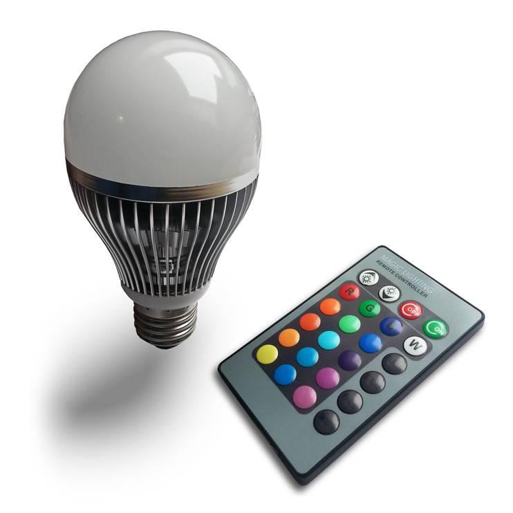 Ledika LED Lamp RGB set 6W E27 met IR AB